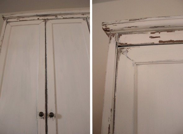 avant apr s fini antique sur m lamine avec une peinture. Black Bedroom Furniture Sets. Home Design Ideas