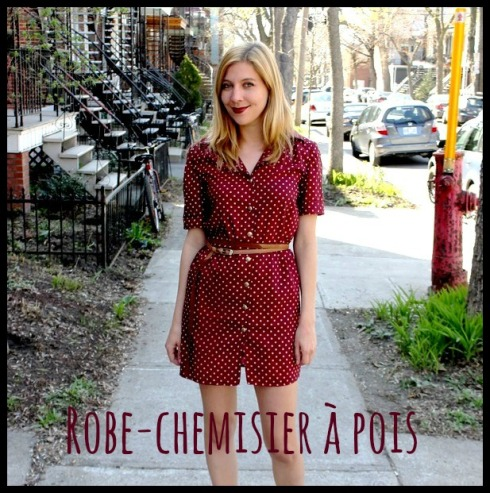 robe-chemisier pois