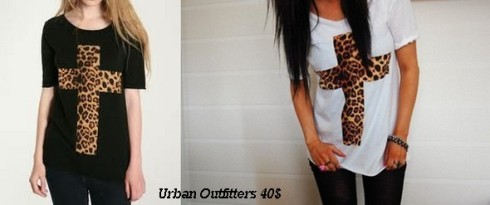 Urban outfitters leopard cross